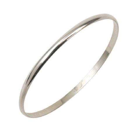 4MM Sterling Silver Slave Bangle in Teenage to Adult Sizes